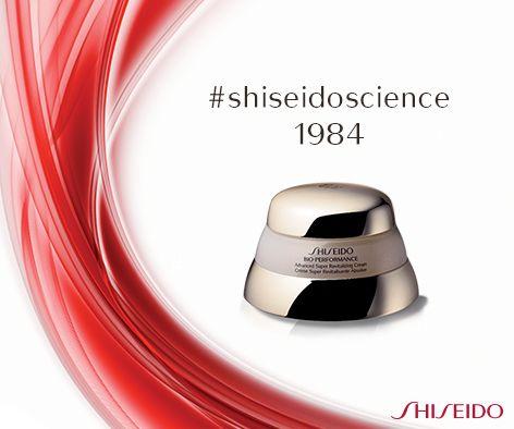 1984 - #Shiseido lancia Bio-Performance, il primo cosmetico anti-età con acido ialuronico. La #bellezza diventa scienza. #ShiseidoScience #ShiseidoLab www.shiseido.it
