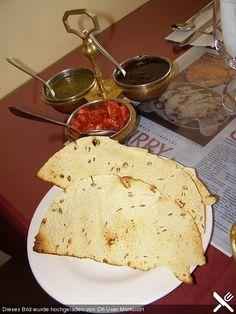 Papadam (knusprig - würziges, indisches Fladenbrot aus Hülsenfrüchten)