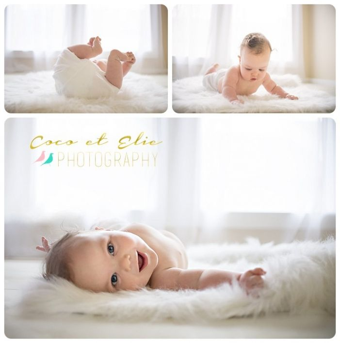 rolling six month old smiling at camera - Studio photography - six month portraits - baby boy photography - Jennifer Esneault (Formerly Known As Coco et Elie Photography) Baton Rouge, Louisiana