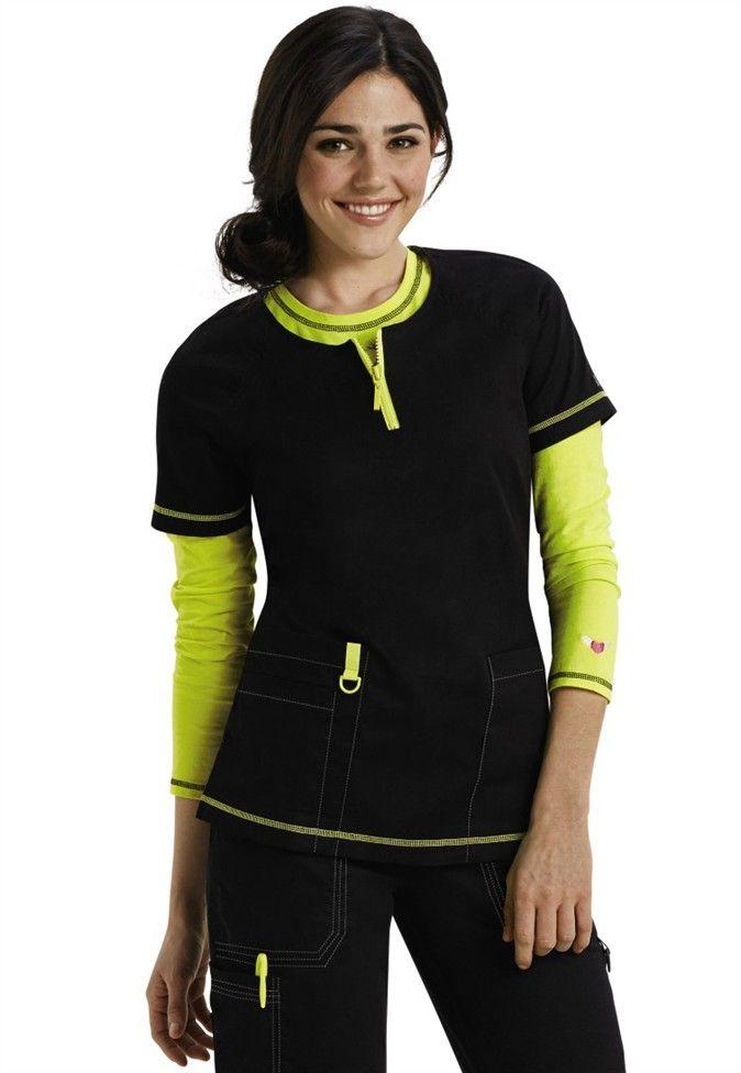Koi Jasmine zipper scrub top. - Scrubs and Beyond