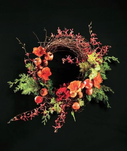 Fruit and Flowers on a Branch Wreath (with how to's!)