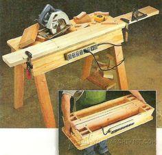 Portable Workbench Plans - Workshop Solutions Plans, Tips and Tricks | WoodArchivist.com                                                                                                                                                                                 More
