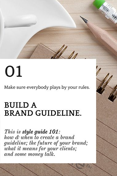 This is style guide 101: how & when to create a brand guideline; the future of your brand; what it means for your clients; and some money talk. #branding #brandguideline #unfoldatelier