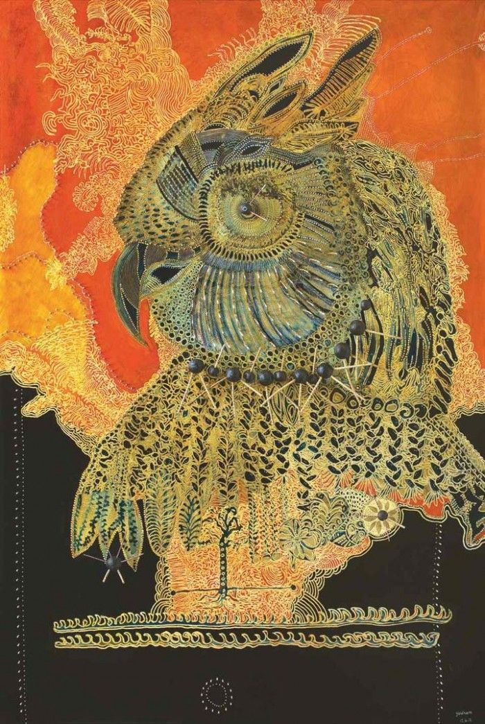 Joshua Yeldham Outback Visionary inspiration. Birds are frequently the subject of his work.