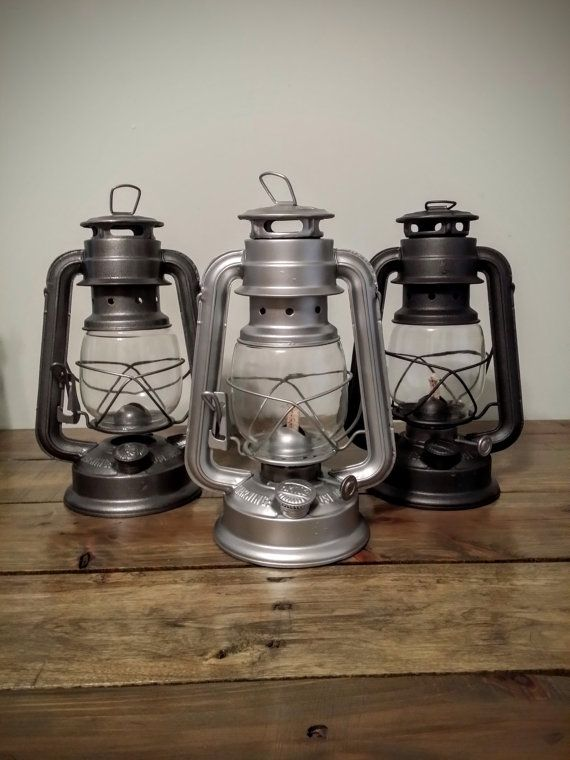 Steel railroad lantern rustic home decor vintage wedding