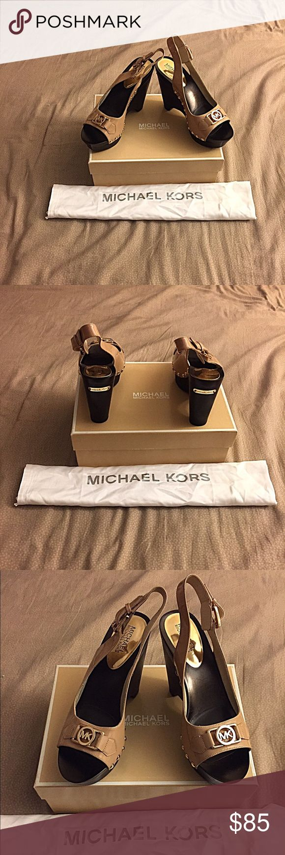 MICHAEL KOR HEELS these are in great in great condition! i do not except trades but i am open to negotiate. let me know if there is something else you would like to see. COMES WITH BOX!!! Michael Kors Shoes Heels