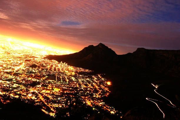 LOVE this! Cape Town radiating beauty with a coat of twinkling city lights covering the landscape. Mesmerizing,