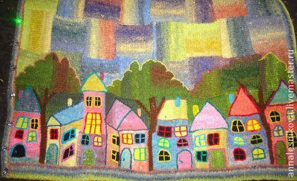 """Волшебное пальто """"Выйду за околицу..."""" - рисунок,Анна Лесникова,трикотаж от кутюр"""