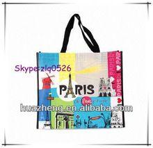 Fashion ladies handbags made in Zhejiang China/wholesale shopping bags/reusable shopping handbags for woman