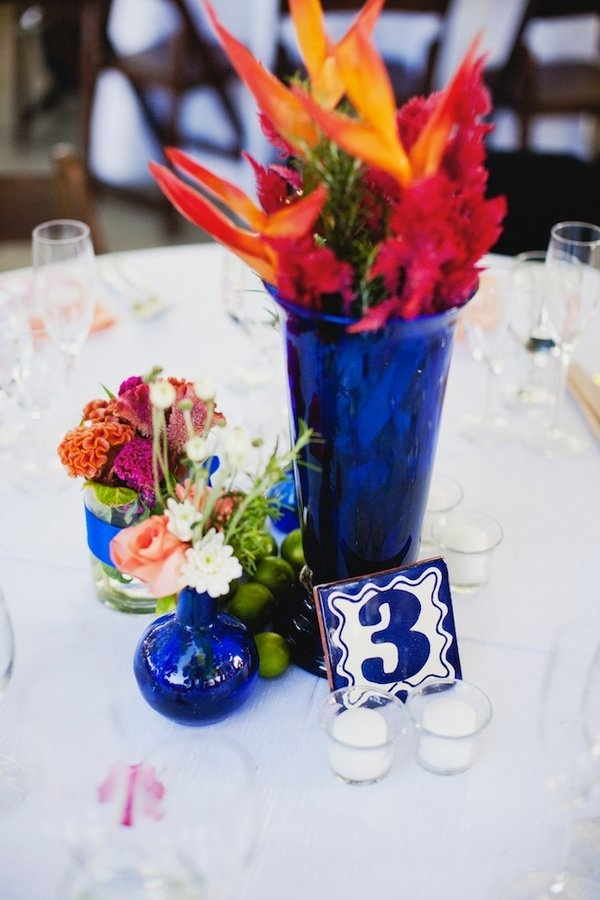 Designing Wedding Centerpieces Cobalt Blue