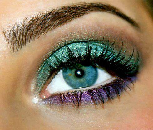 turquoise and purple eye