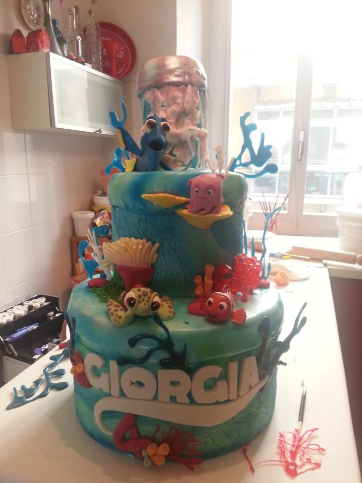 110 best finding nemo cakes and toppers images on ...
