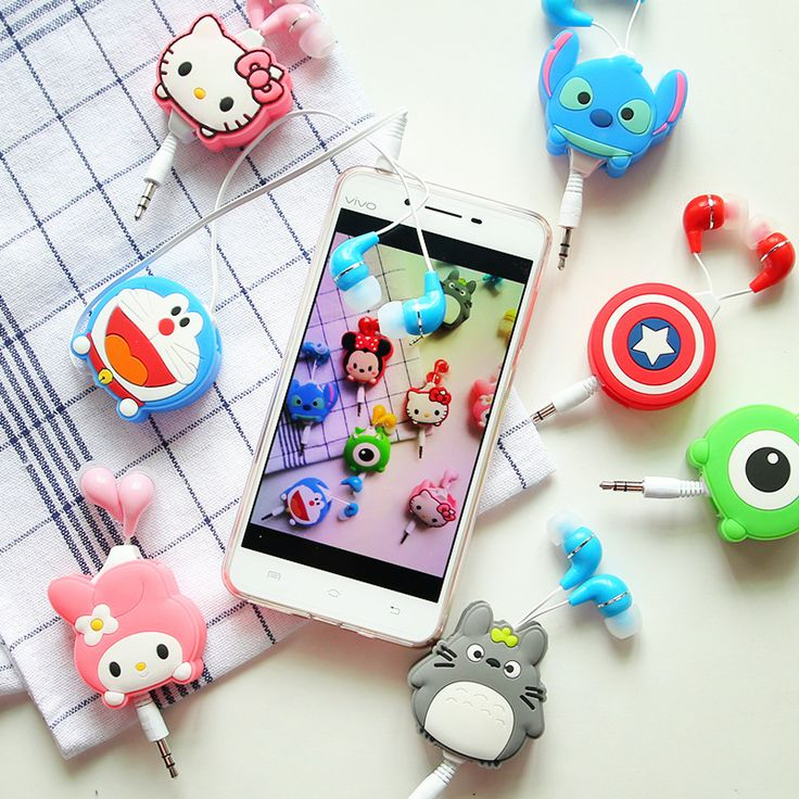 Cartoon My Neighbor Totoro Stitch Hello Kitty music earbuds inear earphone for iphone MP3 Mobile Phone best gifts-in Earphones & Headphones from Consumer Electronics on Aliexpress.com | Alibaba Group