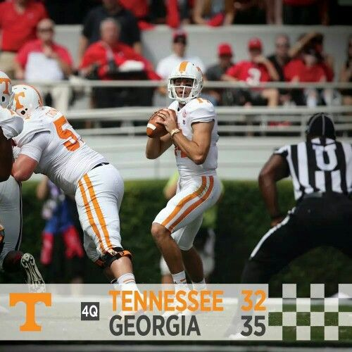 Tennessee vs Georgia 9/27/14. Proud to be a Vol's fan win or lose! Our guys didn't give up & it was a super close game - Vol's 32, Bulldogs 35.