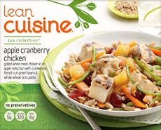 Usually I think frozen meals with chicken are little better than OK, but this makes a delicious lunch.