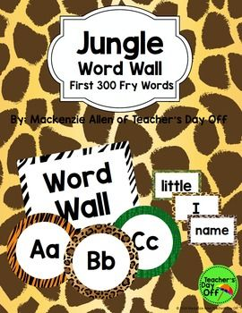 This animal print Fry word wall is great for any jungle or safari-themed classroom.
