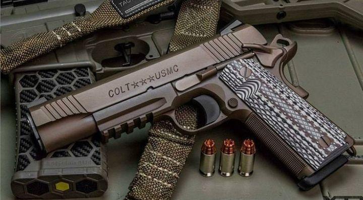 Colt m45a1 #gun #pistol #handgun #45acp #colt #colt1911 #colt45 #coltm45a1 #grip #usmc #range #shooting #usa #military #2a