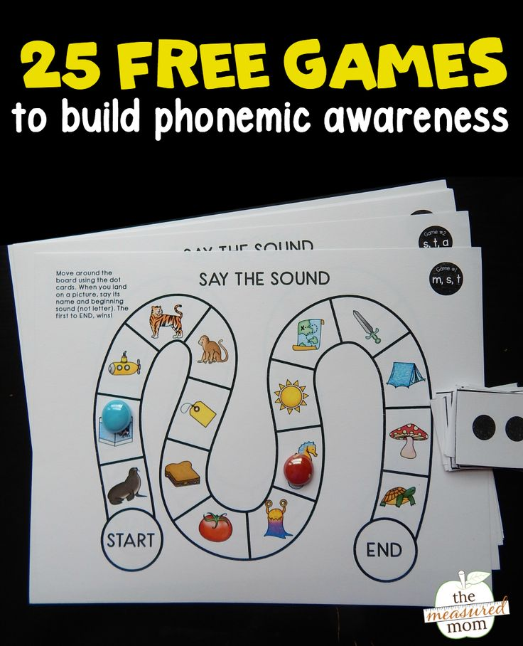 Looking for phonemic awareness games? Use this set of 25 games to help learners identify beginning sounds in words!