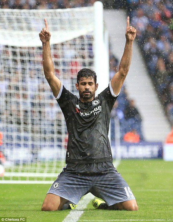 Costa scores against West Brom