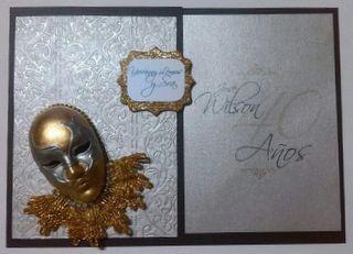 Invitación Temática Carnaval de Venecia