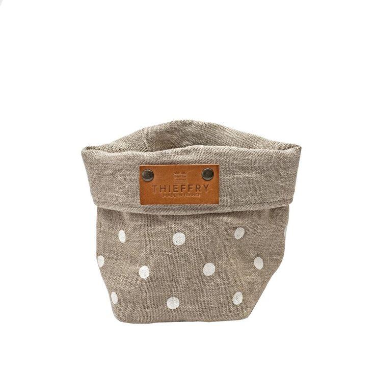 Thieffry Mercantour DOB Blanc and Deauville Natural Linen Basket, 10x1 – HOPSON GRACE