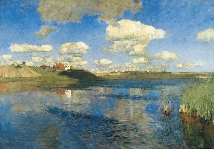 Lake Russia  is the last  unfinished painting of Russian landscape    Unfinished Landscape Painting
