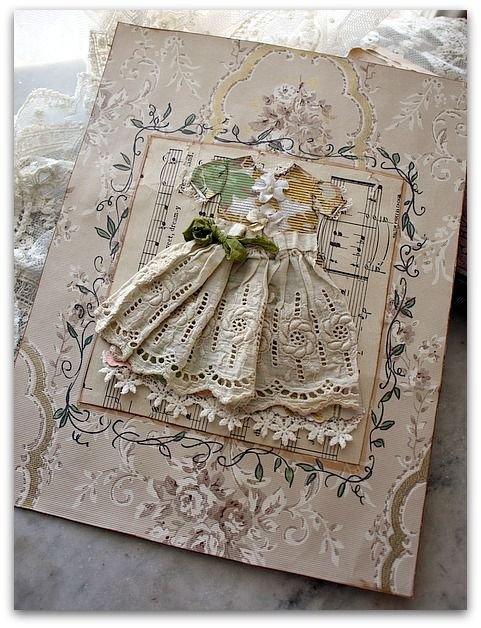 Gorgeous !!: Dress Cards, Shabby Vintage Cards, Shabby Chic, Paper Dresses, Handmade Cards, Beautiful Card, Altered Beauty, Lace Dresses