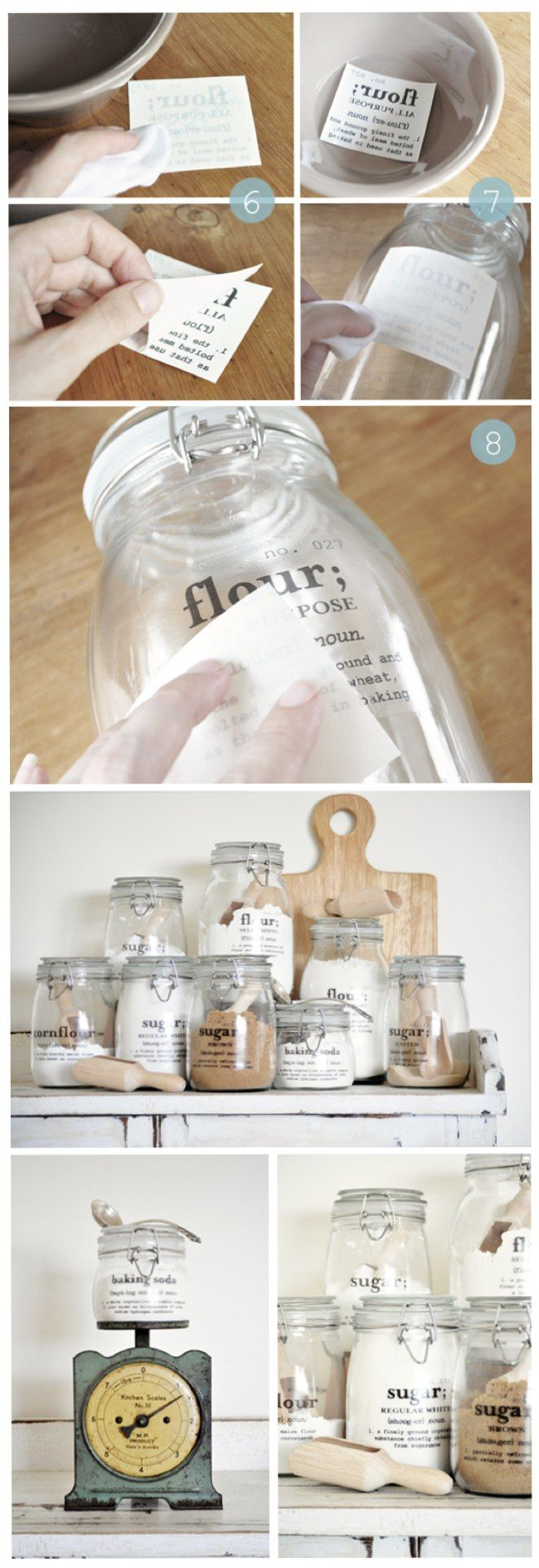 DIY Kitchen Containers With Labels