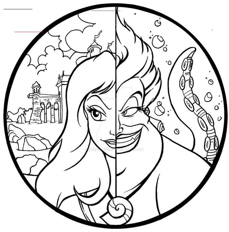 Commission Ursula And Vanessa Color Page By Ebonshireforest Commission Ursula And Vanessa In 2020 Disney Coloring Pages Disney Princess Coloring Pages Coloring Pages