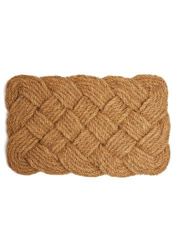 Rope 'Em In Doormat - Tan, Tan / Cream, Nautical, Better, Solid, Braided, Woven