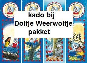 Leeswijzers kado bij bestelling van een Dolfje Weerwolfje pakket (reuzewenskaarten 2 stuks, beloningspakket 2 stuks en 4 stuks bij alles in één pakket)