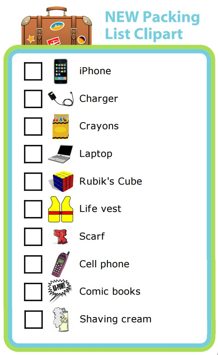 17 Best images about New Clipart & Activities for The Trip ...