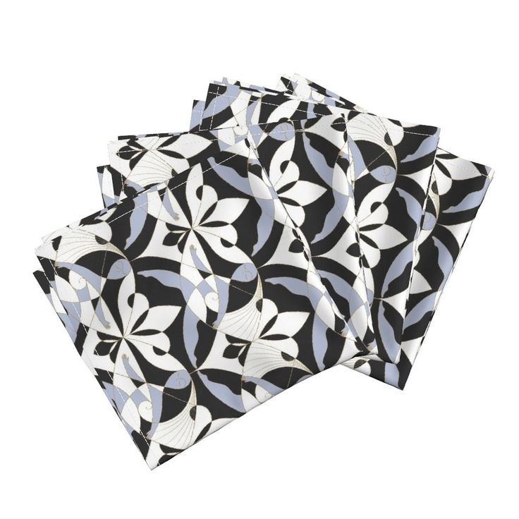 Interwoven XX_Black on Amarela by mia_valdez | Roostery Home Decor  #Woman #Girls #Cubism #Lady #girly #Sisterhood #Lis #Flower #Interwoven #Black #xenon #blue #Mia #roosteryhome #Cloth #Dinner #Napkins @Roosteryhome