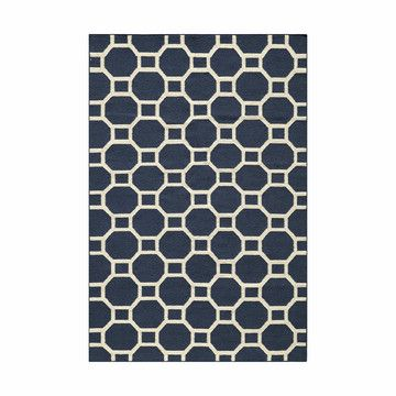 Ovalle Rug 2x3 Navy, $59, now featured on Fab.