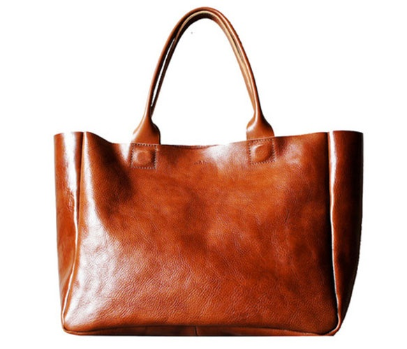 rib and hull leather tote