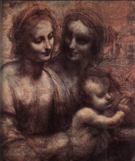 Leonardo Da Vinci, Madonna and Child with St Anne
