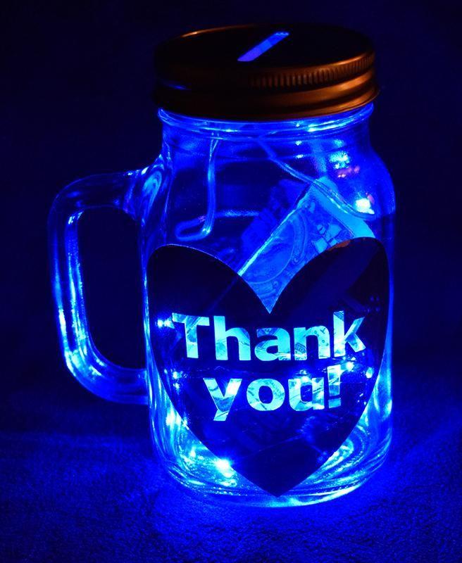 Tip Jar For Uber Rideshare Illuminated Customizable Tip Jars Jar Rideshare