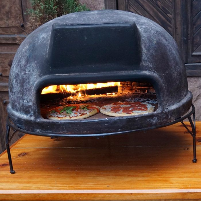 The XL Mexican Clay Pizza Oven Is Far Larger Than The