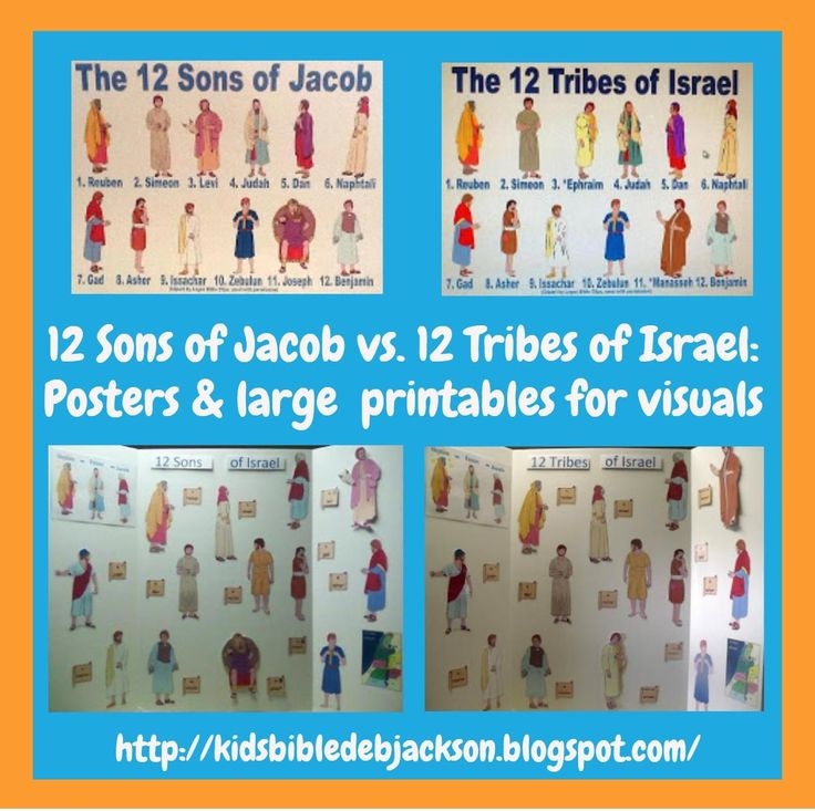 Bible Fun For Kids: The 12 Sons of Jacob vs. The 12 Tribes of Israel