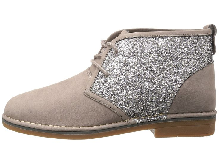 Hush Puppies Cam Catelyn Women's Lace-up Boots Dark Taupe Glitter Nubuck