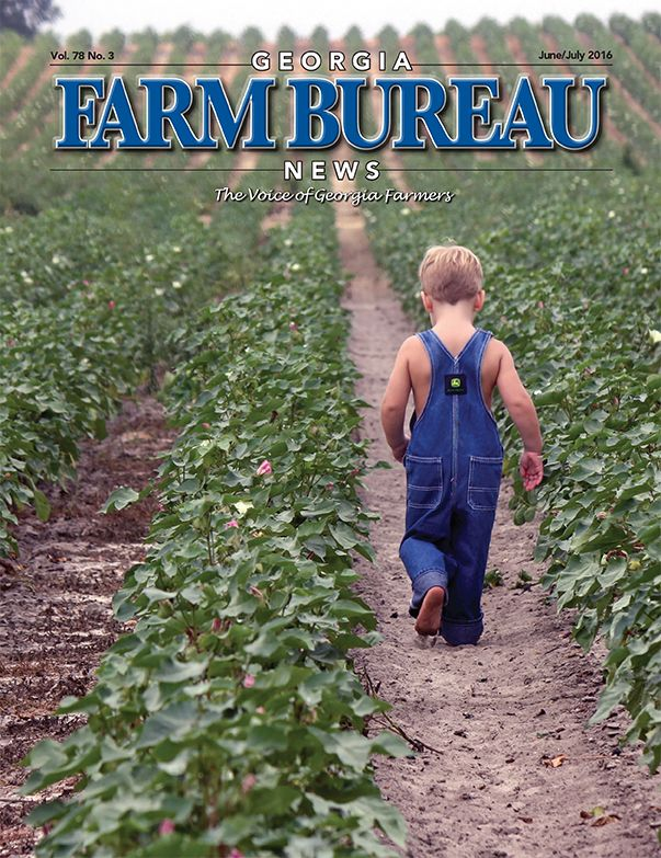 Our Georgia Farm Bureau News magazine for June/July 2016.  It features news about Georgia agriculture and agribusiness, as well as other features of interest to farmers and consumers.