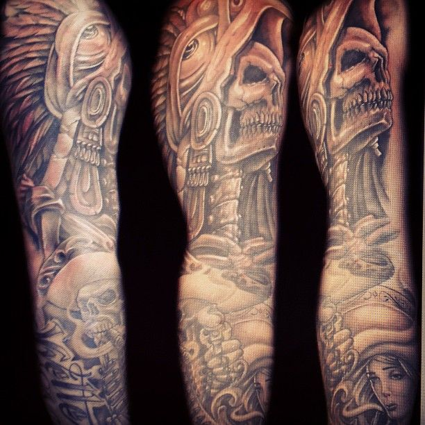 40 best Aztec Tattoo Sleeve Layout images on Pinterest ...