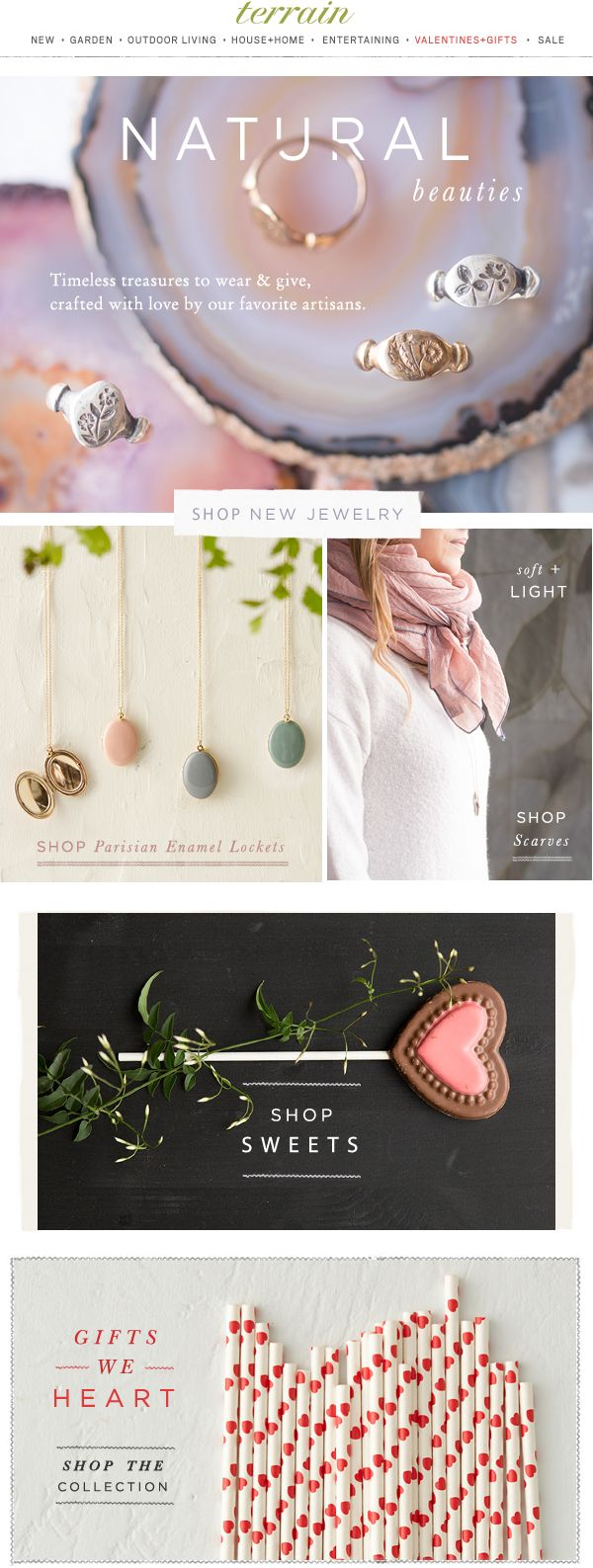 A #jewelry collection of #natural beauties, crafted with love by our favorite #artisans at #shopterrain January 30