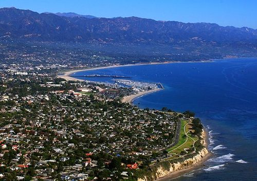 The coastline of Santa Barbara, California