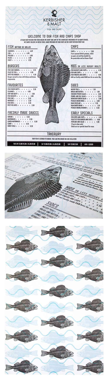 Class: 1 Year Print Design & Publishing || Name: Quintin Weyer || Year: 2015 || Recreate your favorite restaurants menu. http://friendsofdesign.net/1-year-print-design-publishing