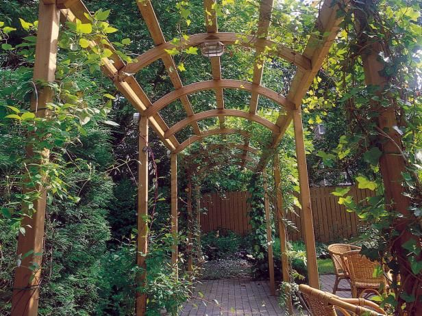 The gardening experts at HGTV.com show you how to build an arched pergola, step-by-step. >> http://www.hgtv.com/design/outdoor-design/landscaping-and-hardscaping/frame-your-walkway-build-a-pergola?soc=pinterest