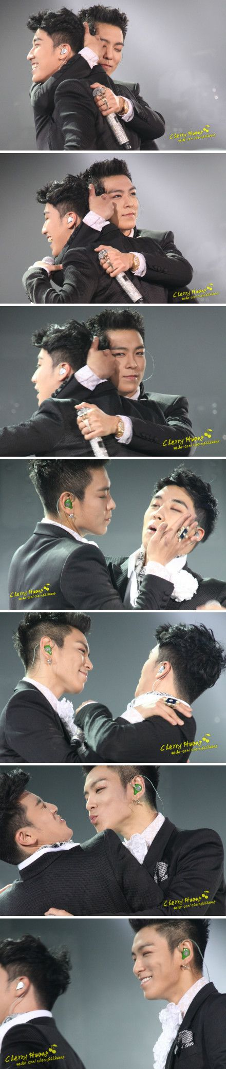 T.O.P Bugging Seungri. It's just pay back. :) I love his smile at the end, it just says aren't I so funny ^_^