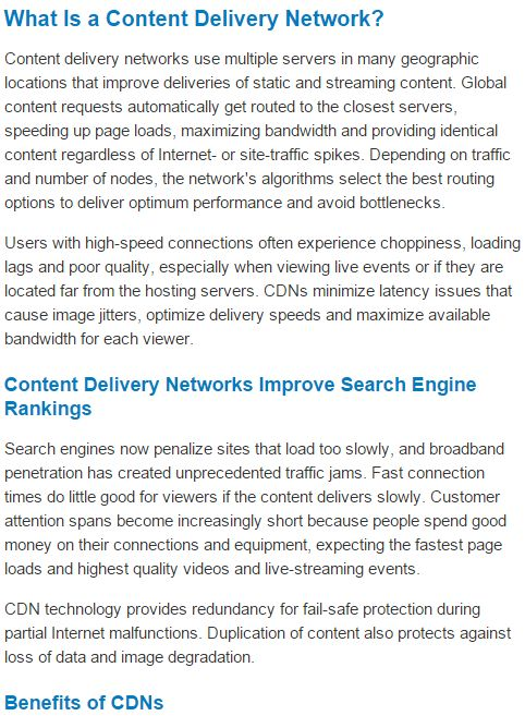 What is a content delivery network? #cdn