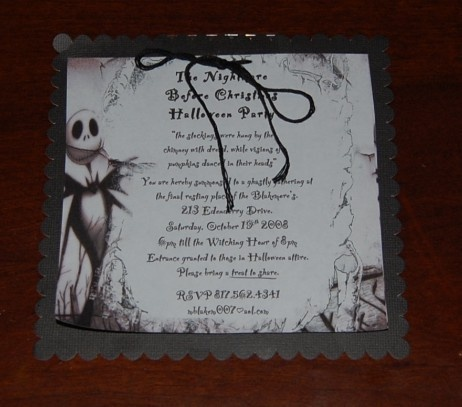 17 Best images about Nightmare Before Christmas Birthday Party – Nightmare Before Christmas Birthday Invitations