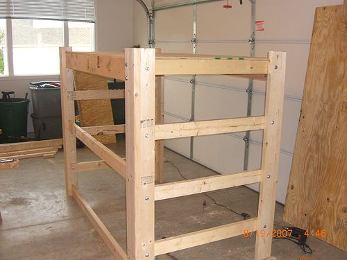 Building a loft bed frame great ideas pinterest loft for How to make a loft room